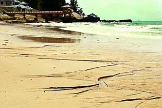 Foto Pantai Tanjung Pesona Kabupaten Bangka
